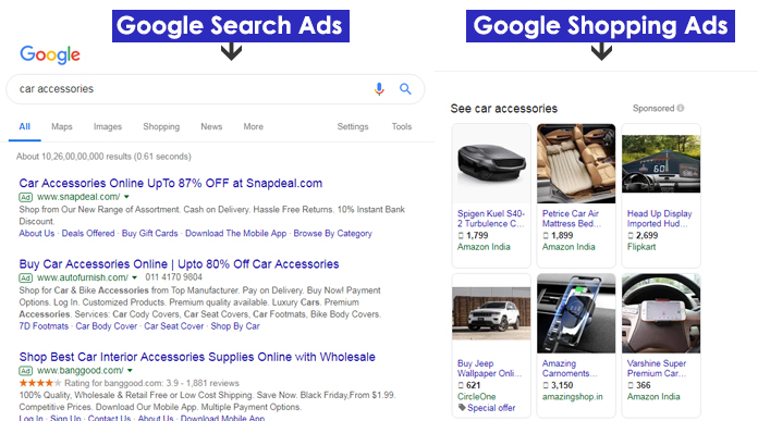 Difference Between Shopping Ads & Search Ads