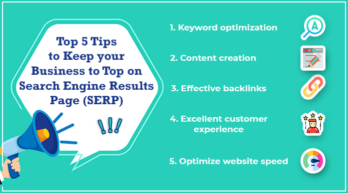 Keep your Business to Top on SERP